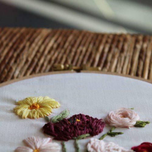 Broderie fleurs