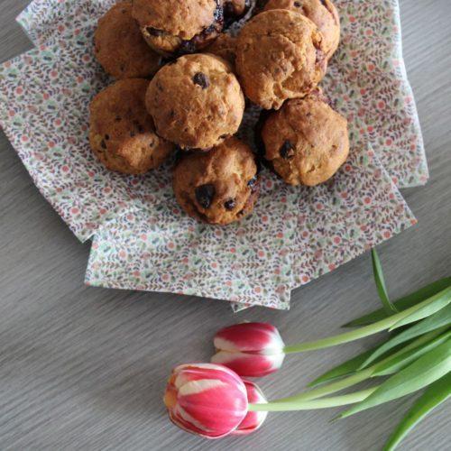 Muffins cœur myrtilles
